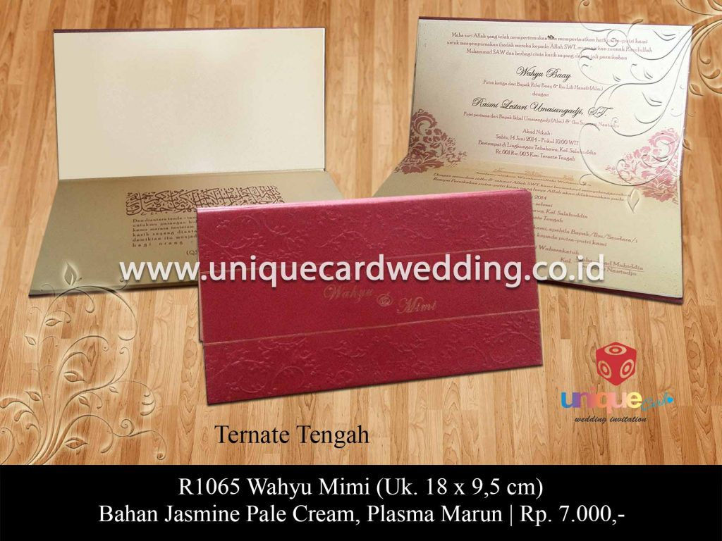 undangan pernikahan-Wahyu Mimi
