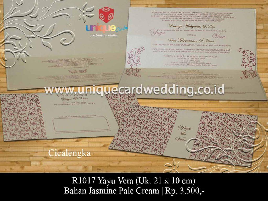 undangan pernikahan-Yayu Vera