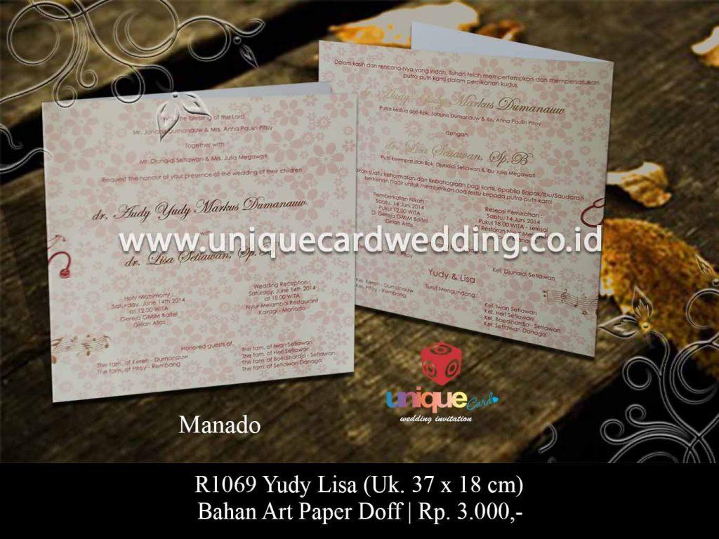 undangan pernikahan Yudi Lisa