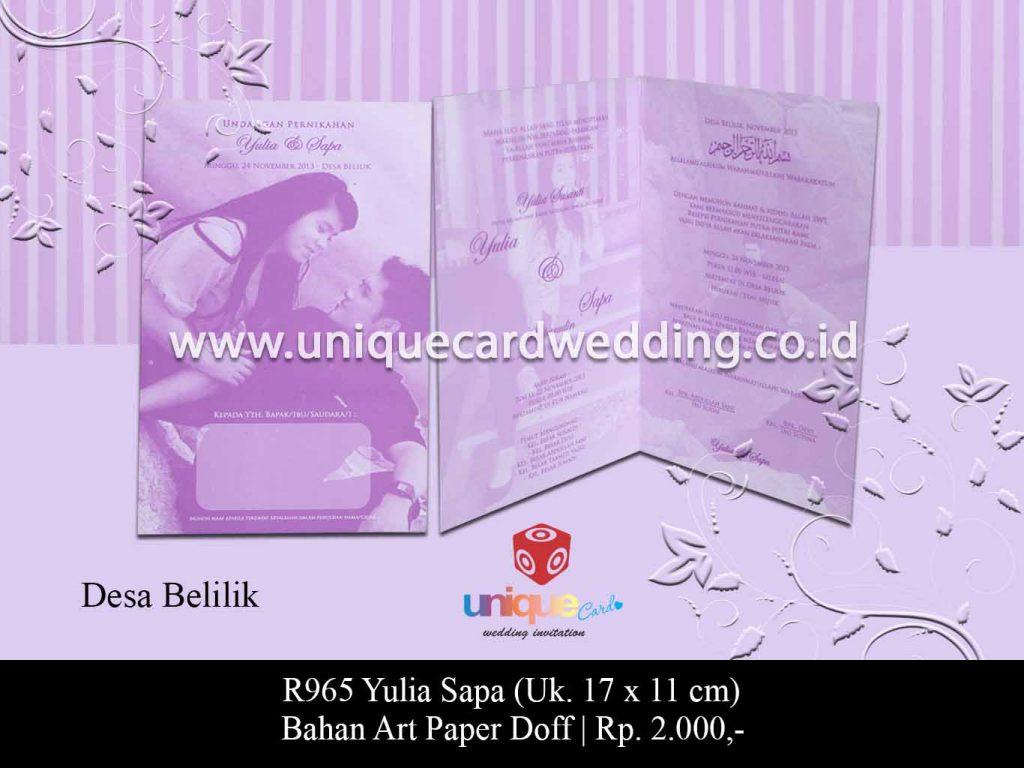 undangan pernikahan Yulia Sapa