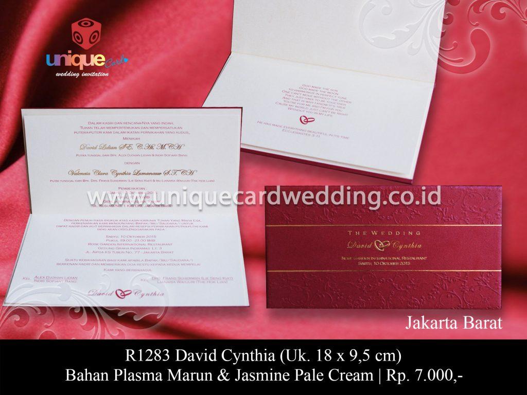 undangan pernikahan David Cynthia