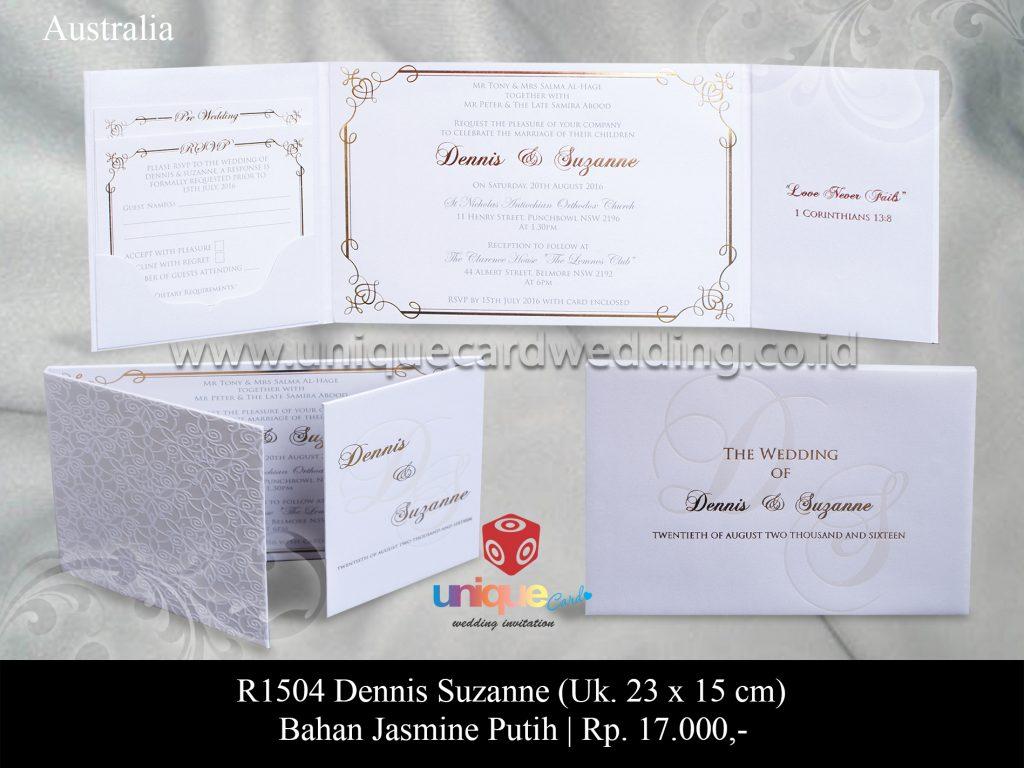 Undangan Pernikahan Dennis – Suzanne