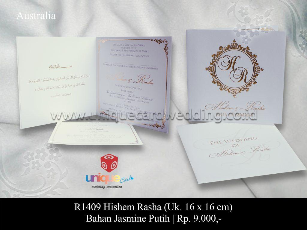 Undangan Pernikahan Hishem – Rasha