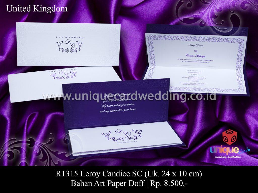Undangan Pernikahan Leroy – Candice