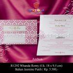 undangan pernikahan whanda-romy