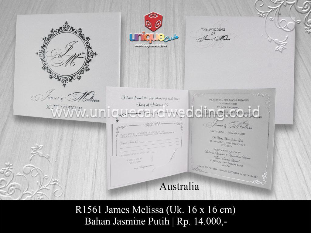 undangan pernikahanJames Melissa