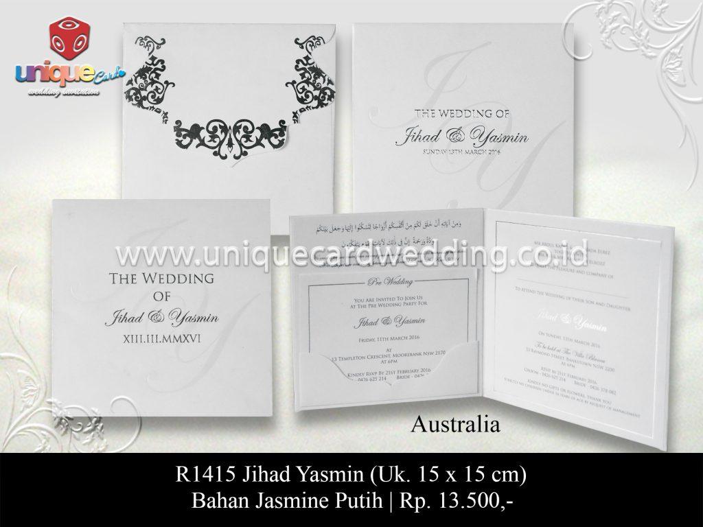 undangan pernikahan Jihad Yasmin
