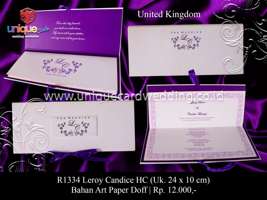 undangan pernikahan Leroy Candice HC