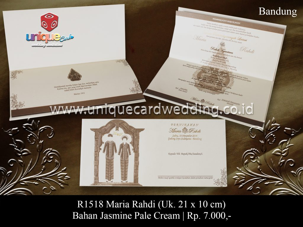 undangan pernikahan Maria Rahdi