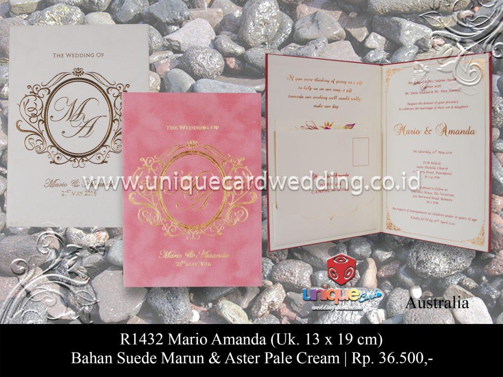 undangan pernikahan Mario Amanda
