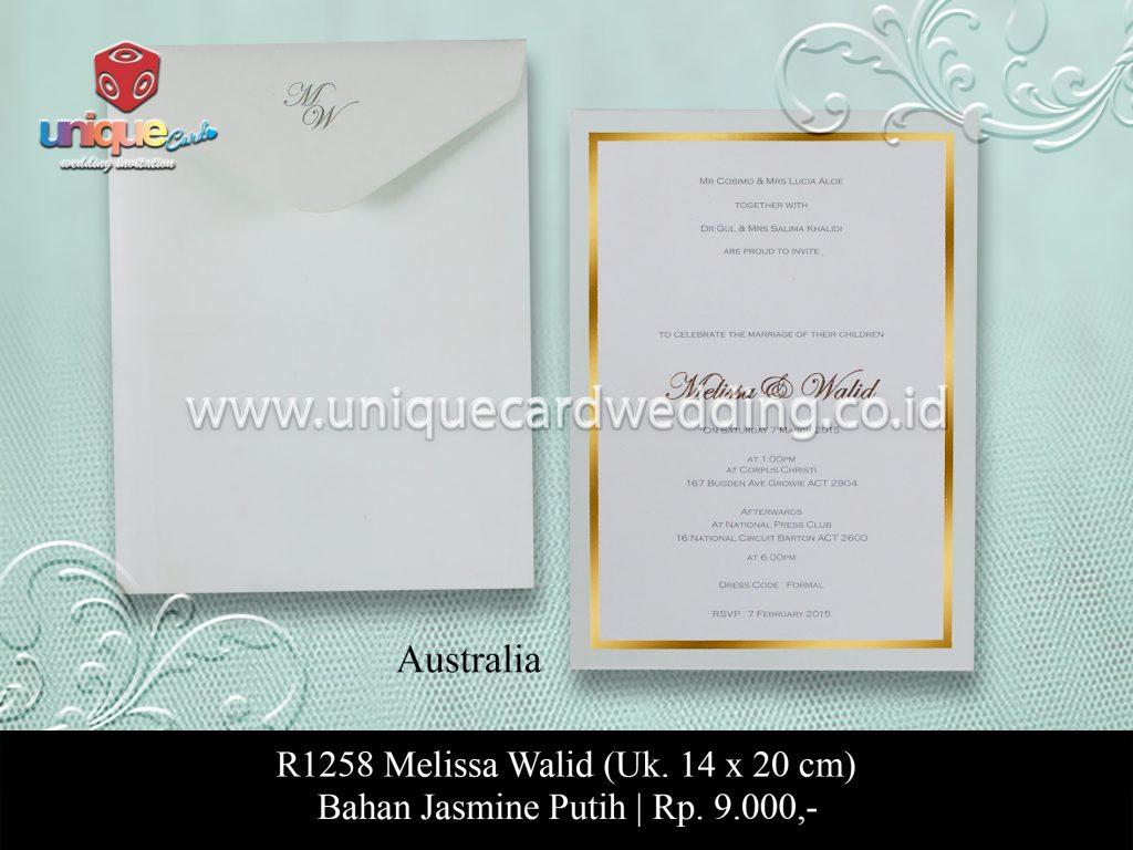 Undangan Pernikahan Melissa Walid