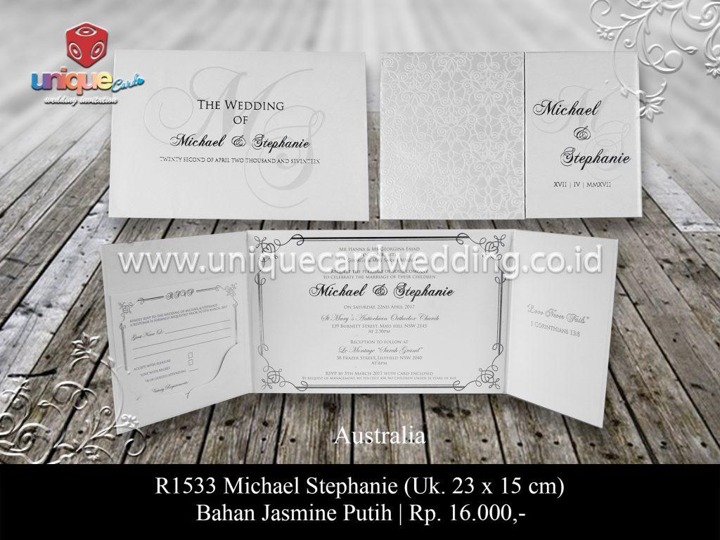 Undangan Pernikahan Michael Stephanie