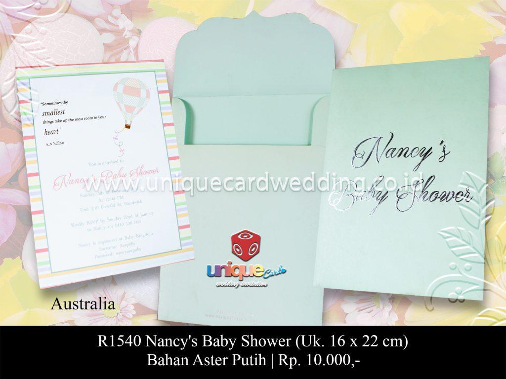undangan pernikahan Nancy's Baby Shower