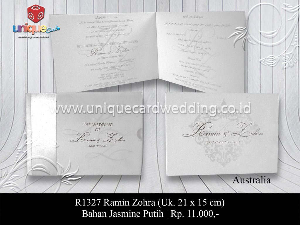 Undangan Pernikahan Ramin Zohra