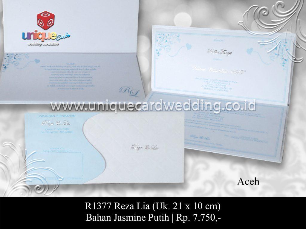 Undangan Pernikahan Reza Lia