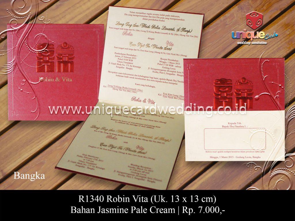 Undangan Pernikahan Robin Vita