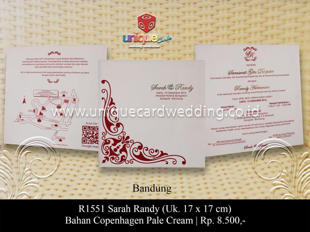 Undangan Pernikahan Sarah Randy