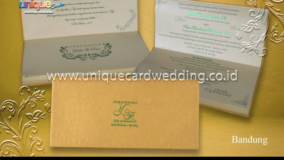 Undangan Pernikahan Yullie Reza