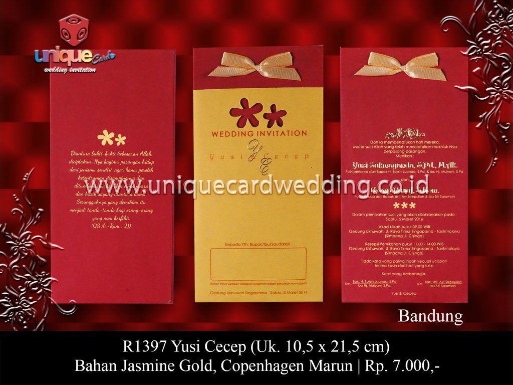 Undangan Pernikahan Yusi Cecep